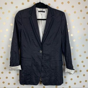 Elie Tahari Roll Up Cuff Jacket Blazer